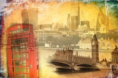 London art vintage illustration Royalty Free Stock Photography