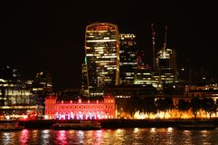 London At Night. The Historic City Of London Financial District. Royalty Free Stock Image