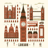 London attractions collection Royalty Free Stock Photography