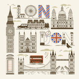 London attractions collection Royalty Free Stock Images
