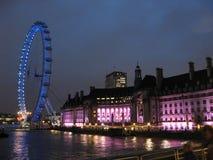 London-Auge bis zum Nacht Stockfotografie
