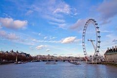 London-Auge an einem sonnigen Tag Lizenzfreie Stockfotos