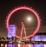 London-Auge nachts Stockfotografie