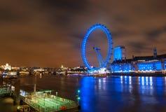 London-Auge nachts Stockbild