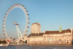 London-Auge panoramisch stockfotografie