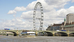 London-Auge u. Fluss-Taxi Stockbild