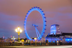 London-Auge von der Westminster-Brücke Stockbild