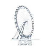 London-Augen-Rad Lizenzfreie Stockbilder