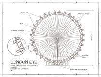 London-Augenansicht Lizenzfreies Stockbild