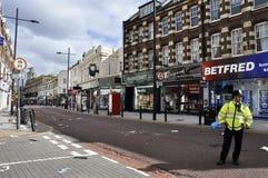 LONDON - AUGUST 09: Clapham Junction area is sacke Stock Photos