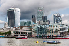 LONDON -AUGUST 6: The City of London on August 6, 2014 in London stock image
