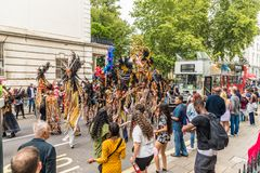 A view of Notting Hill Carnival London 2018 stock photo