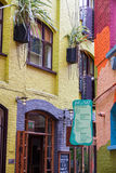 LONDON -AUGUST 16: Hauses at Neal's Yard on August 16, 2014 in L Royalty Free Stock Image