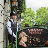 LONDON - AUGUST 24, 2017: The Sherlock Holmes museum is located Stock Images