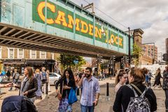 A typical view in Camden Market london royalty free stock photography