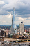 LONDON -AUGUST 13:   View of The Shard (Architect Renzo Piano, 2. 012)  on August 13, 2014  in London. The Shard , is the tallest building in Europe, standing Stock Photo