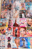 London - AUGUST 8, 2014: Vogue Magazine on August 8 in London, U. K. Vogue Magazine is a popular fashion magazine Stock Photos