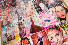 London - AUGUST 8, 2014: Vogue Magazine on August 8 in London, U Royalty Free Stock Images