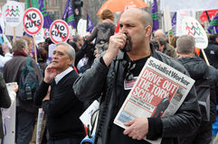 London Austerity Protest Royalty Free Stock Images