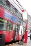 london autobusowa przerwa Obraz Stock