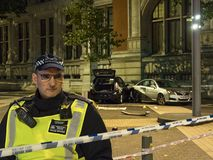 London-Autounfall Stockbilder