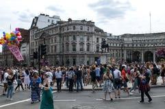 London bög Pride Parade 2017 Arkivbild