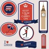 London badges Stock Photography