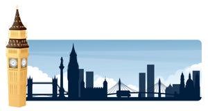 London baner stock illustrationer