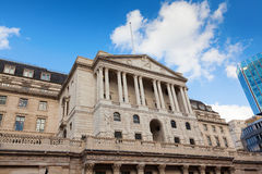 London Bank of England in Threadneedle Street. Stock Photos