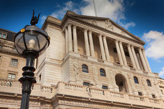 London Bank of England in Threadneedle Street. Royalty Free Stock Photography