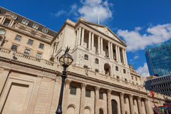 London Bank of England in Threadneedle Street. Royalty Free Stock Photo