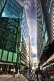London Banking Street. Taken in 2011 taken in HDR Royalty Free Stock Images