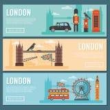 London Banner Set vector illustration