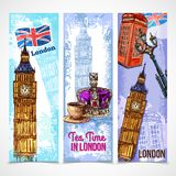 London Banner Set Royalty Free Stock Image