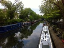 London barge. Little Venice Central London Royalty Free Stock Images