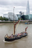 London Barge on the Thames Stock Images