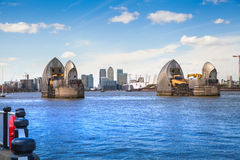 London barrier on the River Thames view Stock Photos