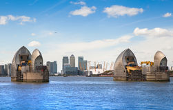 London barrier on the River Thames view Stock Image