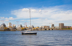 London barrier on the River Thames view Stock Images