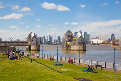 London barrier on the River Thames view Royalty Free Stock Image