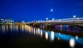 London Battersea Bridge. At night  England Stock Images
