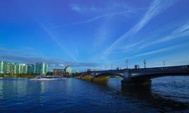 London. Battersea Bridge Thames River  London England Stock Images