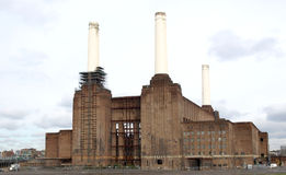 London Battersea powerstation. A landmark abandoned factory Royalty Free Stock Image