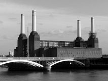 London Battersea powerstation. Abandoned factory Royalty Free Stock Photos