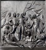London - The Battle of Copenhagen relief from Nelson memorial Royalty Free Stock Images
