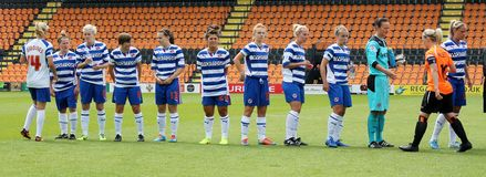 London Bees v Reading FC Women. FA WSL (Women Super League) match Stock Images