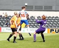 London Bees v Reading FC Women. FA WSL (Women Super League) match Royalty Free Stock Photography