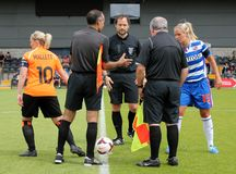 London Bees v Reading FC Women. FA WSL (Women Super League) match Stock Image