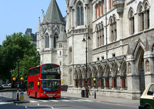 London kungliga domstolar av rättvisa Arkivbild