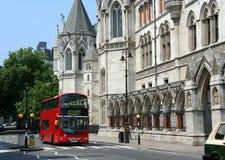 London, Königshöfe von Gerechtigkeit Stockfotografie